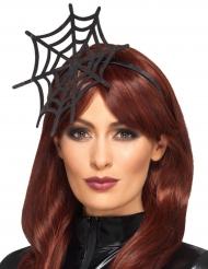 Zwarte spinnenweb haarband voor vrouwen