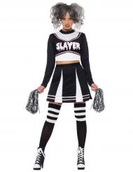 Gothic cheerleader kostuum voor vrouwen
