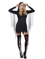 Sexy zwart reaper kostuum voor vrouwen