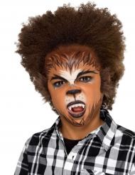 Weerwolf schminkset met nepbont voor kinderen