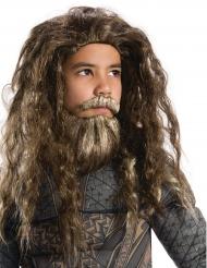 Aquaman™ pruik en baard voor kinderen