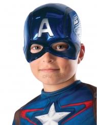 Captain America™ half masker voor kinderen