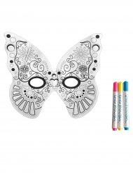 Wasbaar vlinder masker met 3 stiften