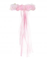 Lichtroze prinses bloemenkrans voor meisjes
