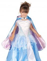 Omkeerbare blauwe en roze prinses cape voor meisjes