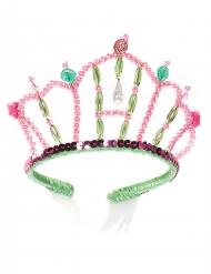 Roze en groene zeemeermin prinses tiara