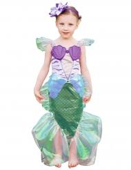Paars en goudkleurig zeemeermin kostuum voor meisjes