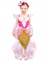 Roze zeemeermin kostuum met haarband voor meisjes