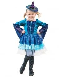 Blauwe heksen outfit voor meisjes