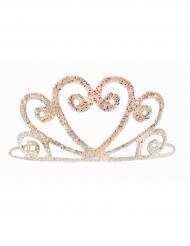 Goudkleurige glanzende tiara voor meisjes