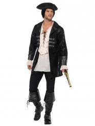 Zwarte luxe piraten jas voor heren