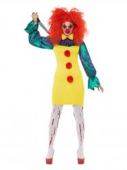 Horror killerclown kostuum voor vrouwen
