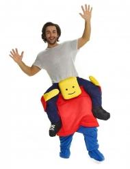 Blockhead Morphsuits™ carry me kostuum voor volwassenen
