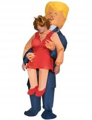 Gedragen door Trump Morphsuits™ kostuum voor volwassenen