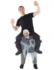 Door een zombie gedragen Morphsuits™ kostuum voor volwassenen