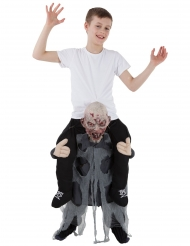 Gedragen door een zombie Morphsuits™ kostuum voor kinderen