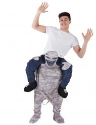 Op de rug van een mummie Morphsuits™ kostuum voor volwassenen