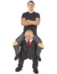 Op de rug van Poetin Morphsuits™ kostuum voor volwassenen