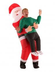 Morphsuits™ gedragen door de kerstman kostuum voor volwassenen