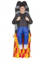 Gedragen door een jetpack Morphsuits™ kostuum voor volwassenen