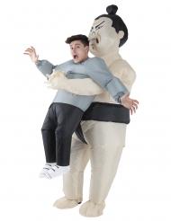 Gedragen door een sumo worstelaar Morphsuits™ kostuum voor volwassenen