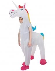 Opblaasbaar enorm eenhoorn Morphsuits™ kostuum voor kinderen