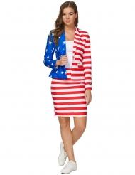Mrs. USA Amerikaanse vlag Suitmeister™ kostuum voor vrouwen