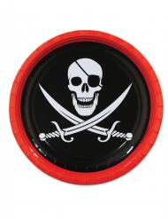 8 kartonnen piraten borden