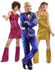 Groepskostuum discozanger en danseressen