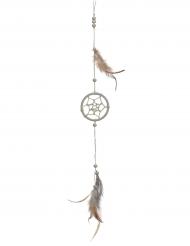 Beige dromenvanger met veren decoratie