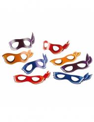 8 kartonnen maskers Ninja Turtles™