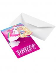 8 Barbie Dreamtopia™ uitnodigingen