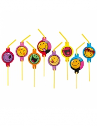 8 Smiley World™ rietjes