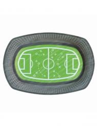 6 kartonnen voetbalveld bordjes 24 cm
