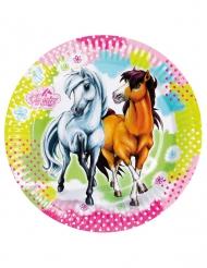 8 kartonnen bordjes Charming Horses