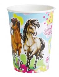 8 kartonnen bekertjes Charming Horses