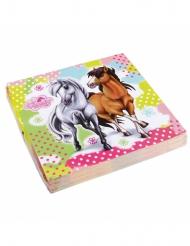 20 servetten Charming Horses