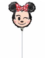 Kleine aluminium Minnie Emoji™ ballon