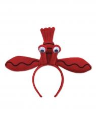 Rode kreeft haarband