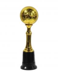 Plastic goudkleurige wereldbol trofee