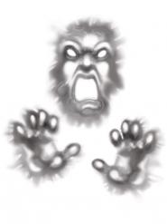 Duivel Halloween sticker