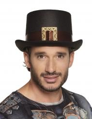 Steampunk hoge hoed met gesp voor volwassenen