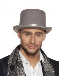 Grijze hoge hoed voor volwassenen