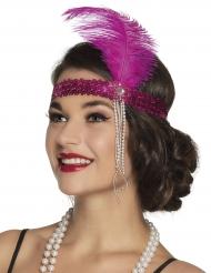 Roze charleston hoofdband voor volwassenen