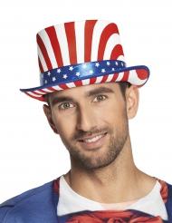 Deluxe USA hoge hoed voor volwasenen
