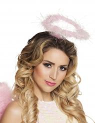 Roze halo haarband voor volwassenen