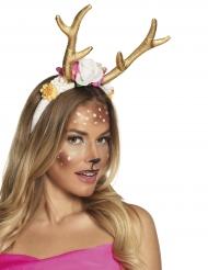 Kleine goudkleurige hert haarband voor vrouwen