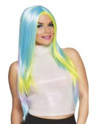 Lichtblauwe pastelkleurige pruik voor vrouwen