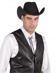Zilverkleurige sheriff ketting voor volwassenen