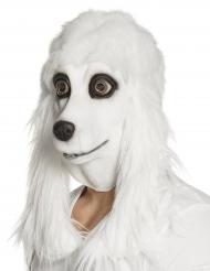 Wit puppy masker voor volwassenen